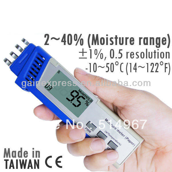 M0198713 Digital 2-in-1 Pen-type Paper Moisture Spring Type Sensor Made in Taiwan