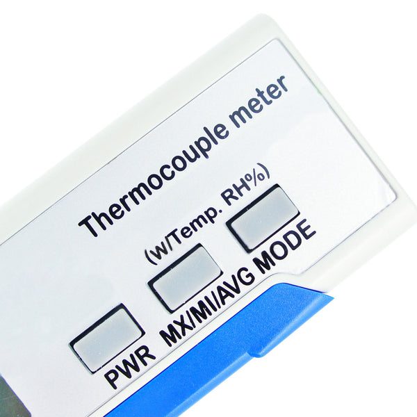 M0198855 Digital K type Thermocouple Thermometer With Air Ambient Temperature and Relative Humidity (RH) Made in Taiwan
