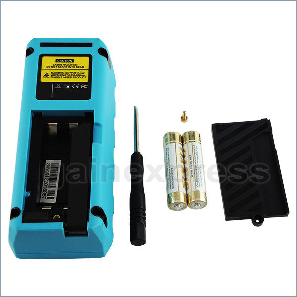 M04-002  Digital Laser Distance Meter Measure Area Volume Pythagoras 60m/197ft Range Finder