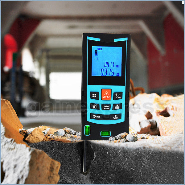 M04-004  Handheld 100m Laser Distance Meter Area Volume Indirect Measure w/ Bubble Level