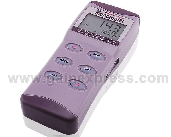 MA215 Professional Digital Differential Air Pressure Manometer Gauge