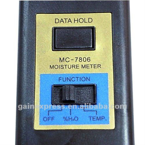 MC-7806 Digital Moisture Meter & Thermometer, Wood Cotton Paper