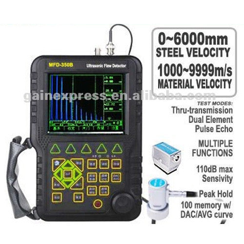 MFD350B 0-6000mm Mitech Digital Ultrasonic Flaw Detector Defectoscope DAC AVR