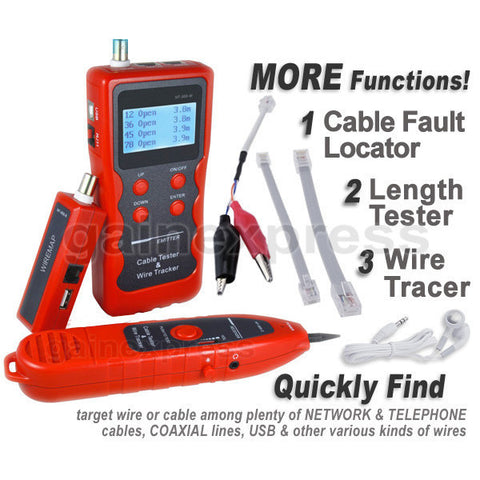 N03NF-868 Cable Tracker Phone Line Tester BNC Network Finder USB RJ11 RJ45