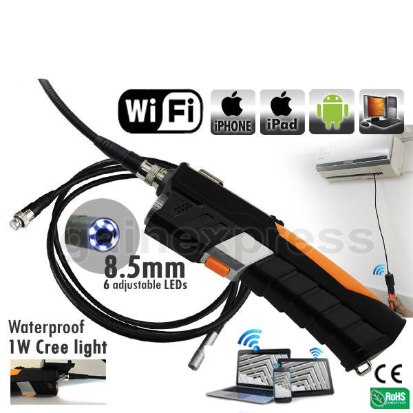 N04WF200_HD_3M HD WiFi 8.5mm Endoscope Borescope iPad IPhone Android iOS +3M Cable