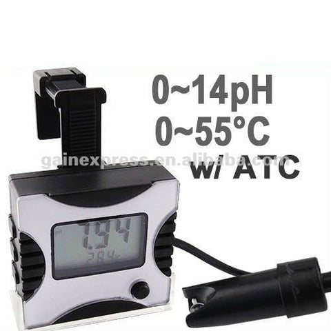 PH-025TEMP Digital pH Monitor Tester Meter Thermometer Aquarium