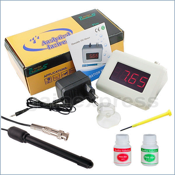 PH-251 New pH Meter + Adaptor + Replaceable Electrode