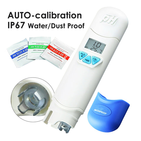 PH868-1 Waterproof pH meter w/ Temperature + Auto Calibration
