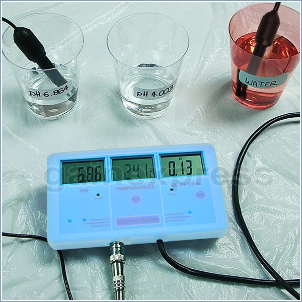 PHT-026 6-in-1 Multi-Function Meter Tester EC CF TDS PH °C °F