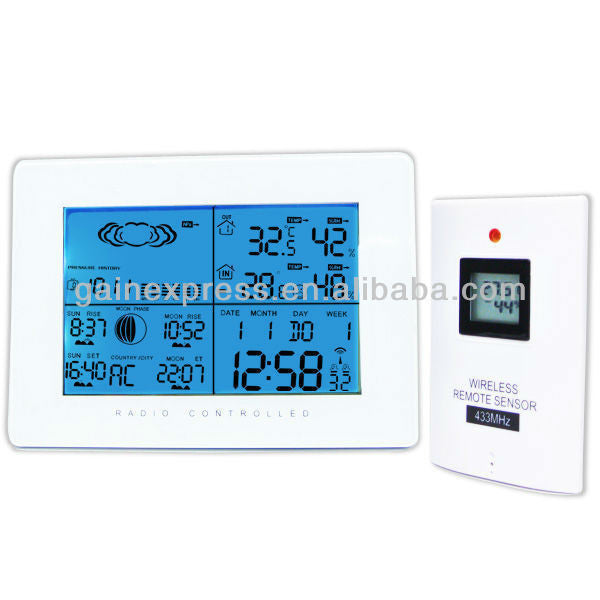 R01AOK-5019 Weather Station DCF77 RCC Indoor Outdoor Thermometer RH
