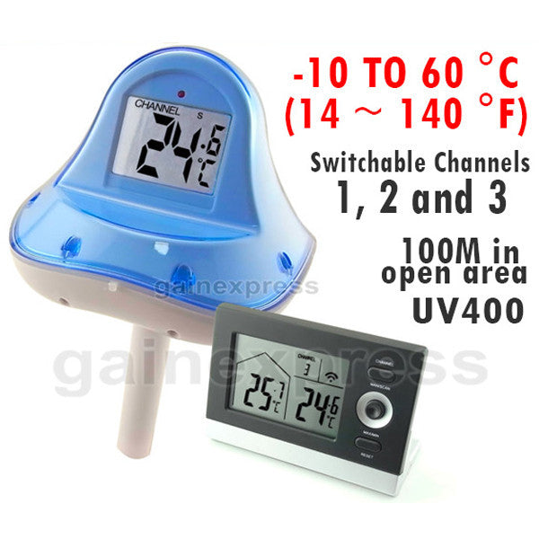 RF-707 Wireless Floating Swimming Pool Thermometer 10~60 °C ...