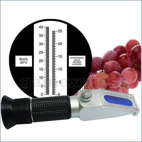 RHWN-25ATCBr 0-25% ATC New Alcohol Refractometer (0-25%VOL, 0-40%Brix)