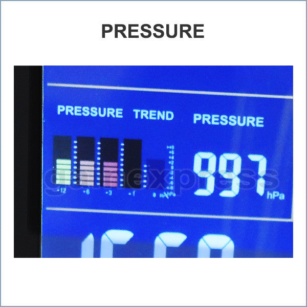S08S620PV_1S Indoor/Outdoor Wireless Weather Station Temperature Humidity RH Air Pressure RCC DCF with Bar Chart 110V / 220V