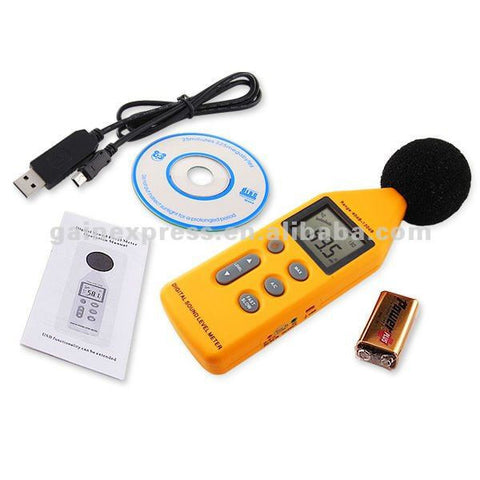 SLM-814CD Digital Sound Level Meter Decibel Logger 40~130dB USB & CD