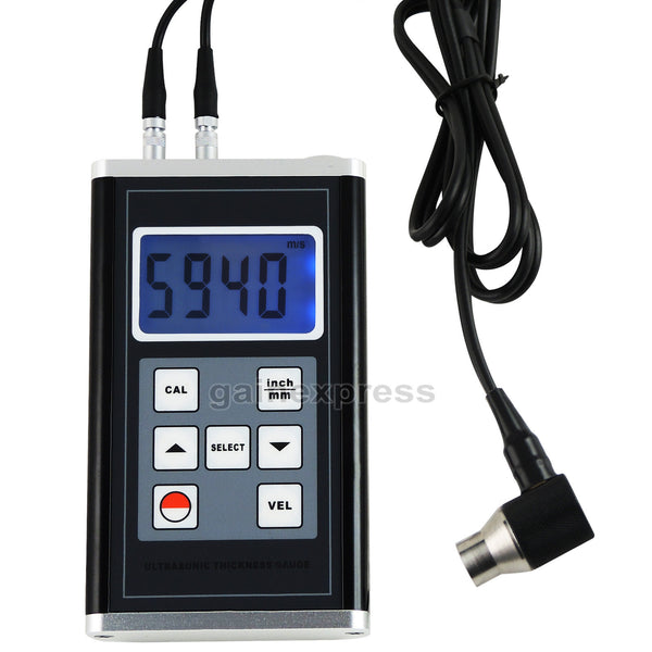 TM-8818 Ultrasonic Thickness Gauge Meter Aluminum Steel Cast Iron Pipes 0.9~400mm Range