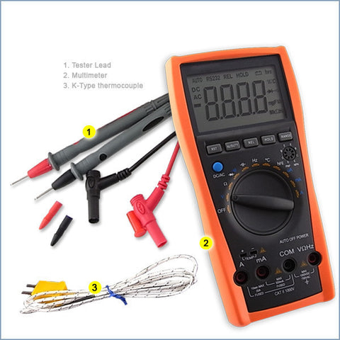 VC-97 Digital Multimeter Tester Thermometer Voltmeter AC DC Ohm