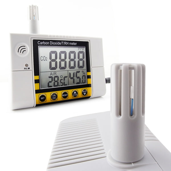 CO22 Carbon Dioxide / Temperature/ Humidity Indoor Air Quality Monitor Meter, Wall Mountable CO2 Detector 0~2000ppm Range