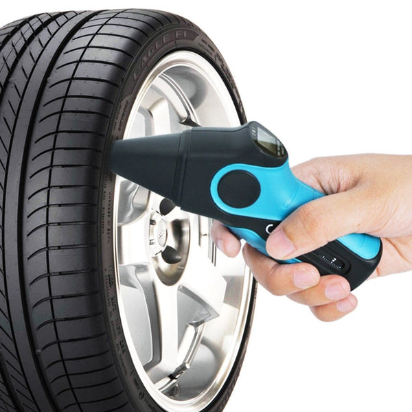 E04-017 Digital 2-in-1 Car Motor Tire Pressure Gauge + Tire Veins Depth