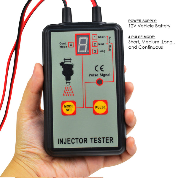 E04-039 Automotive Fuel Injection Pump Injector Tester 12V Car Vehicle Diagnostic Tool 4 Modes