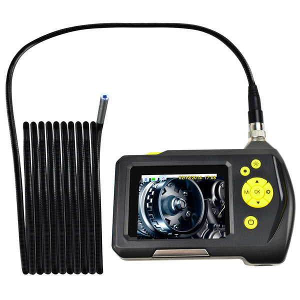END-23_8.2mm_5M Waterproof Endoscope Digital Inspection Camera Borescope 8.2mm Camera 2.7 inch Screen Monitor and 5 Meter Cable, Handheld Digital