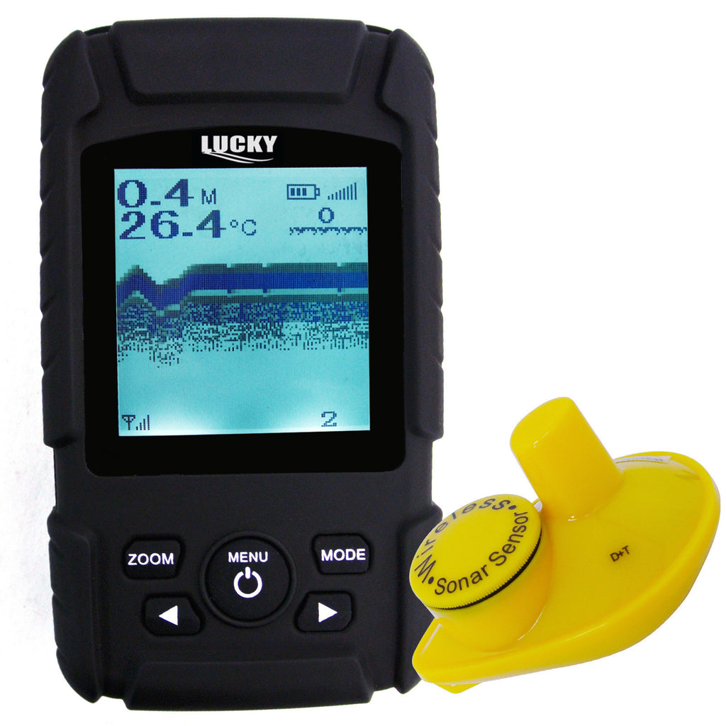 FF-718Li-W Rechargeable Wireless 40M Depth Fish Finder w/ 180m Wireless Operation Range Sensor