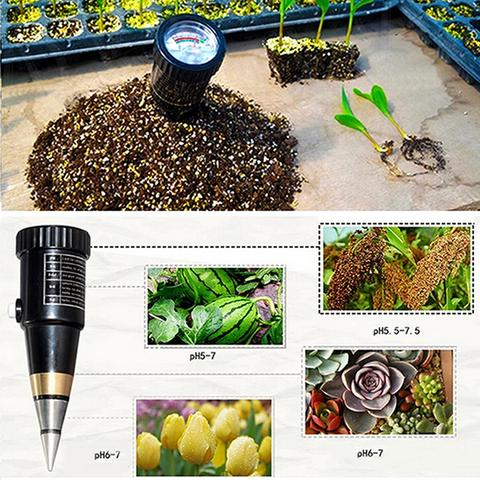 ZD-05 Waterproof 2in1 Dual Soil pH Level Moisture Meter
