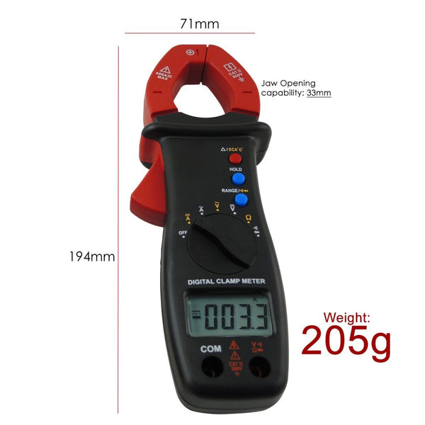 E04-032 Digital Clamp Meter Multimeter DC AC Voltage Current Resistance Diode Continuity Tester