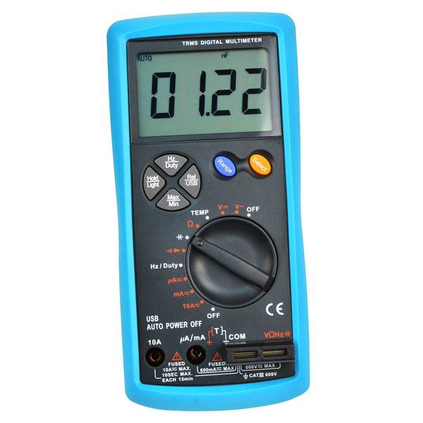 E04-038 Multimeter Tester True-RMS AC/DC Current Voltage Resistance Capacitance Diode Temperature