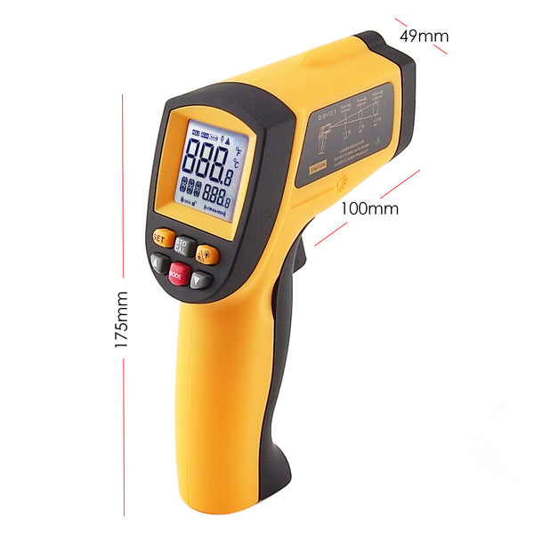 IR-G900 Digital Infrared IR Laser Thermometer -50~900°C -58~1652°F 12:1