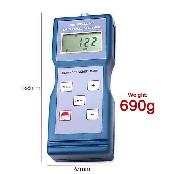 CM-8822 Digital Coating Thickness Meter 0-1000um/0-40mil + F & FN Probes