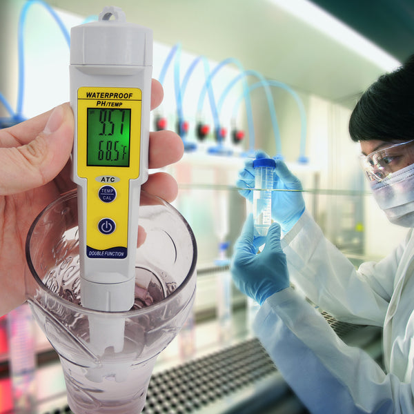 PH-002 Waterproof pH Meter with Auto Buffer Recognition °C °F & Replaceable Electrode