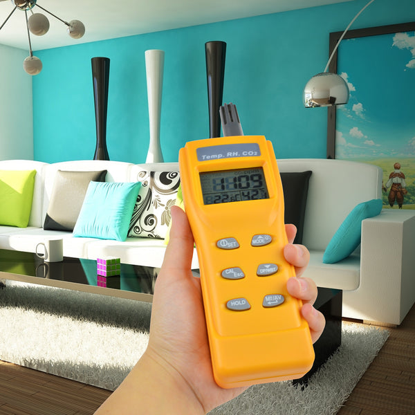 7755 Indoor Air Quality 9999ppm Digital Carbon Dioxide Temperature Humidity NDIR Sensor Monitor