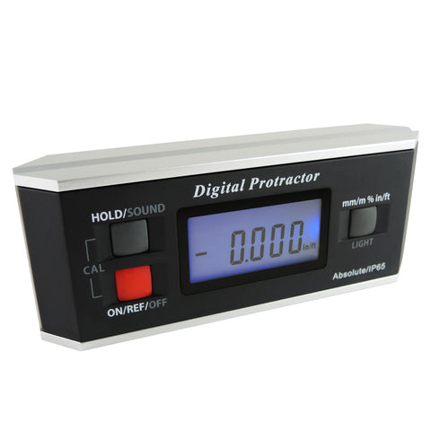 AG-82413B Digital Protractor Angle Finder Level Inclinometer Magnetic V-Groove 0~360 with Backlight IP65