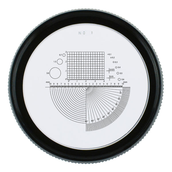 CLMG-7173_LED Magnifier Scale Loupe 10x Magnification 8 LED Light 20mm Scale Chart & 25mm Field of View