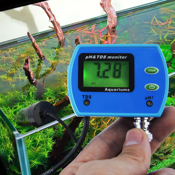 PHM-003 2-in-1 pH TDS Water Quality Tester Replaceable pH Electrode Aquarium Pool Hydroponic Tool