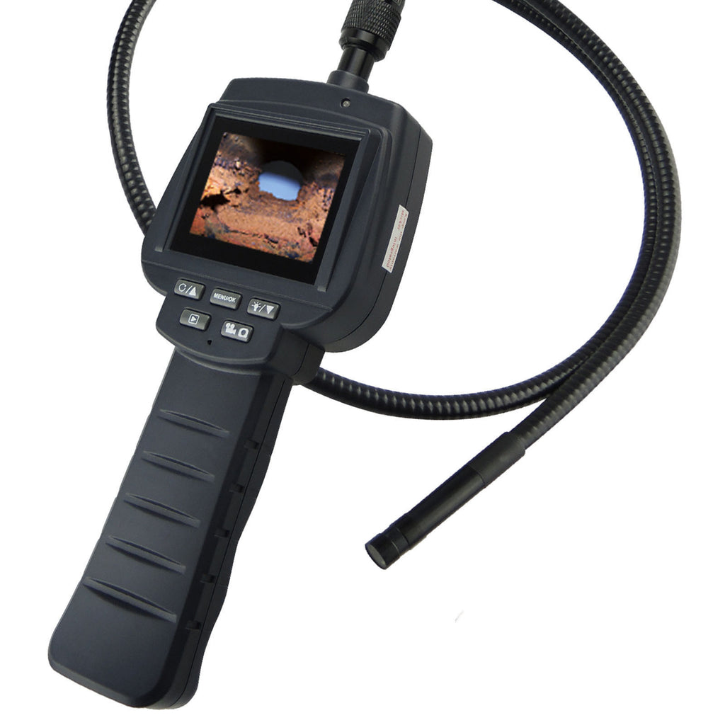 VID-71R_9_1M Recordable Video Inspection Camera 2.4 HD Endoscope Snake Scope 1M Cable 4LED Borescope