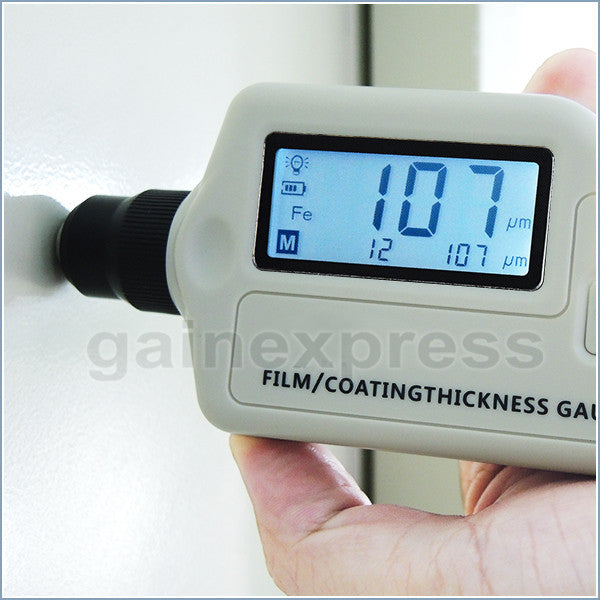 T05-001 Non-Destructive Digital Film / Coating Thickness Gauge Meter 1800um Magnetic Induction