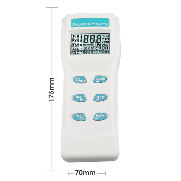8403 Professional Digital Large LCD Dissolved Oxygen DO Meter Tester