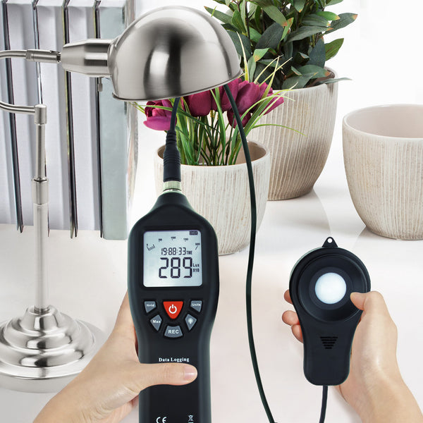 LUX-29 Digital Light Lux Meter with Data Logging Measurement Range 0 to 200,000 Lux Auto Ranging Instrument