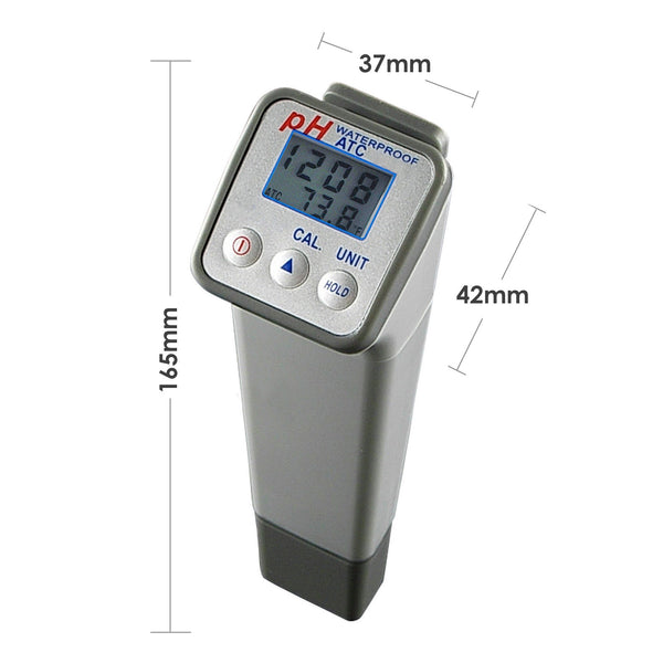 869-0 Waterproof 2-in-1 pH & Temperature Meter, ATC, Digital Water Quality Testing Tester w/ ±0.05pH Accuracy, for Spa, Aquarium, Pool, Laboratory, AquaCulture, Hydroponics