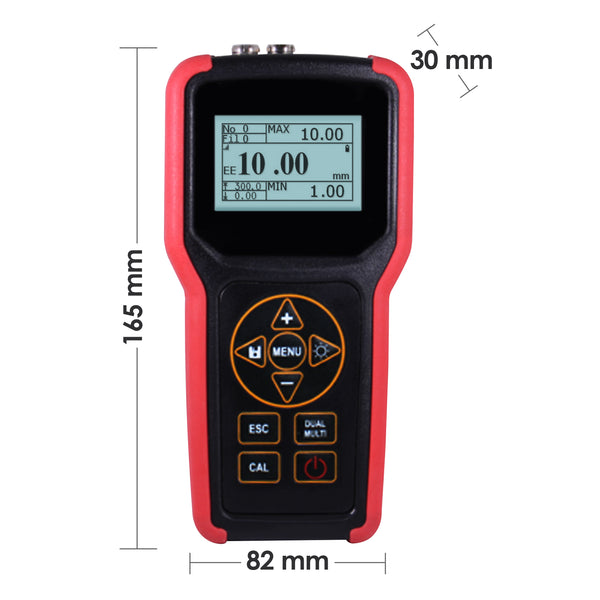 TMG-4002 Ultrasonic Metal Steel Aluminum Thickness Gauge Meter Tester with USB Port  Internal Memory 100,000 Data LCD Auto Probe Zero Calibration