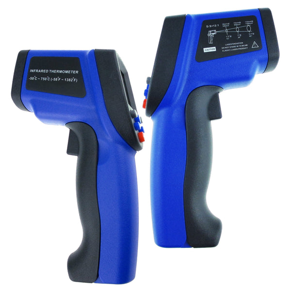 THE-34 -50~750°C/ -58~1382°F Non Contact Digital IR Infrared Laser Thermometer 12:1 DS Pyrometer