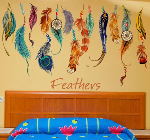 Amazing Feather Wall Sticker