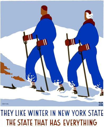 The state that has everything Newyork retro poster