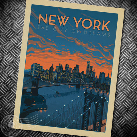 The city of Dreams New york Poster