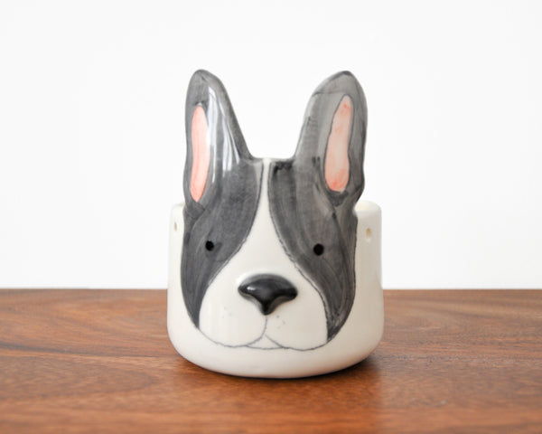 Black Boston Terrier - Plant pot