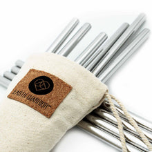 Cotton Travel Pouch for Reusable Straws | Glass Straws | Stainless Steel Straws | Bamboo Straws