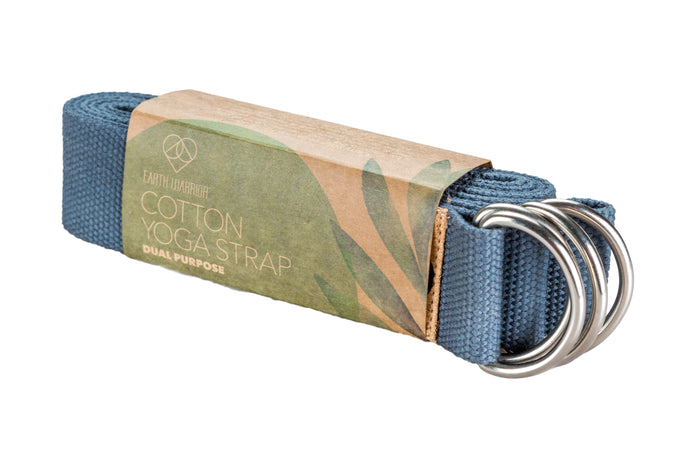 Cotton Yoga Strap - Dual Purpose