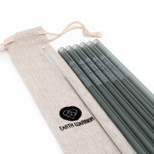 Reusable Glass Straw Set | 6 x Straws + Cleaner + Jute Travel Pouch