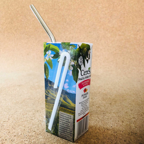 Kids Reusable Juice Box Straws | Plastic Straw Alternative For Kids